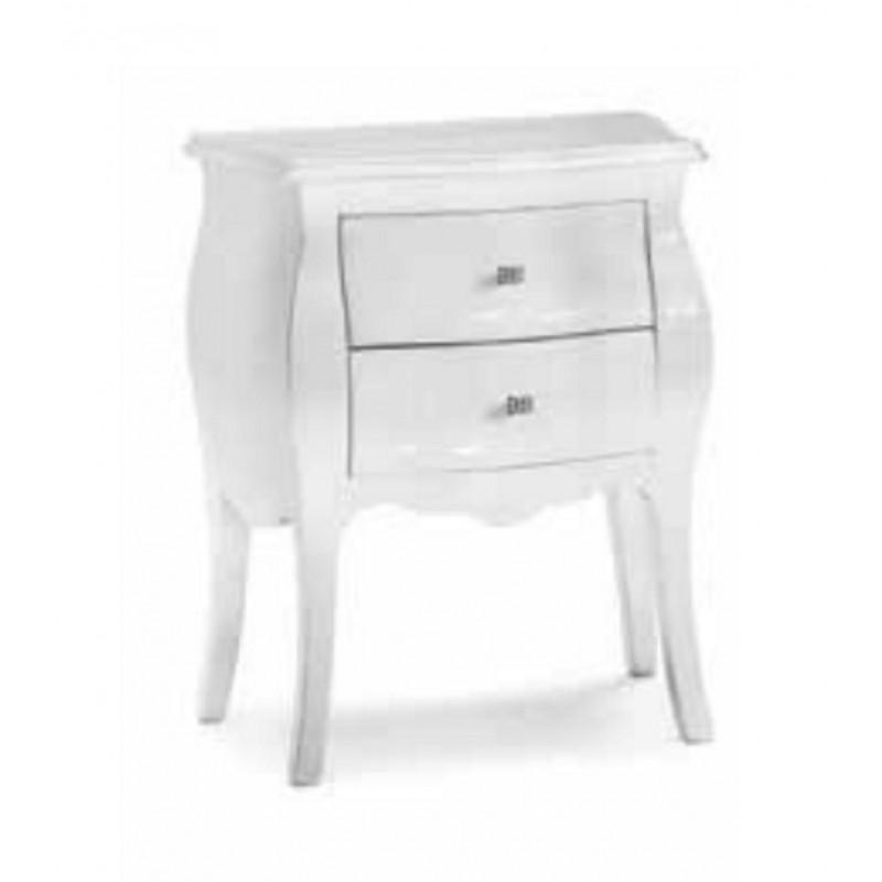 Comodino Laccato Bianco Art 1252