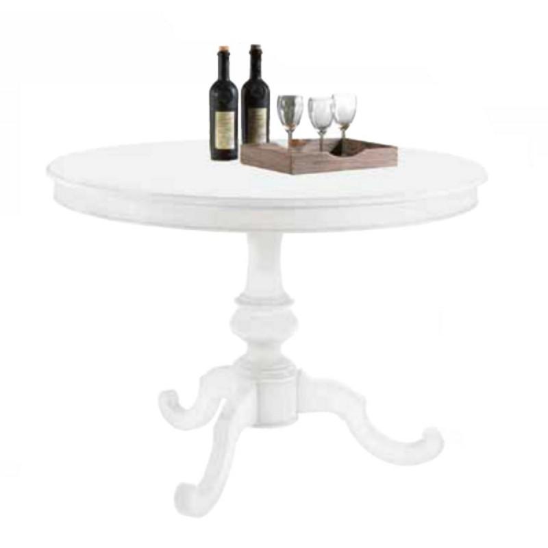 Tavolo rotondo n legno bianco art 1468