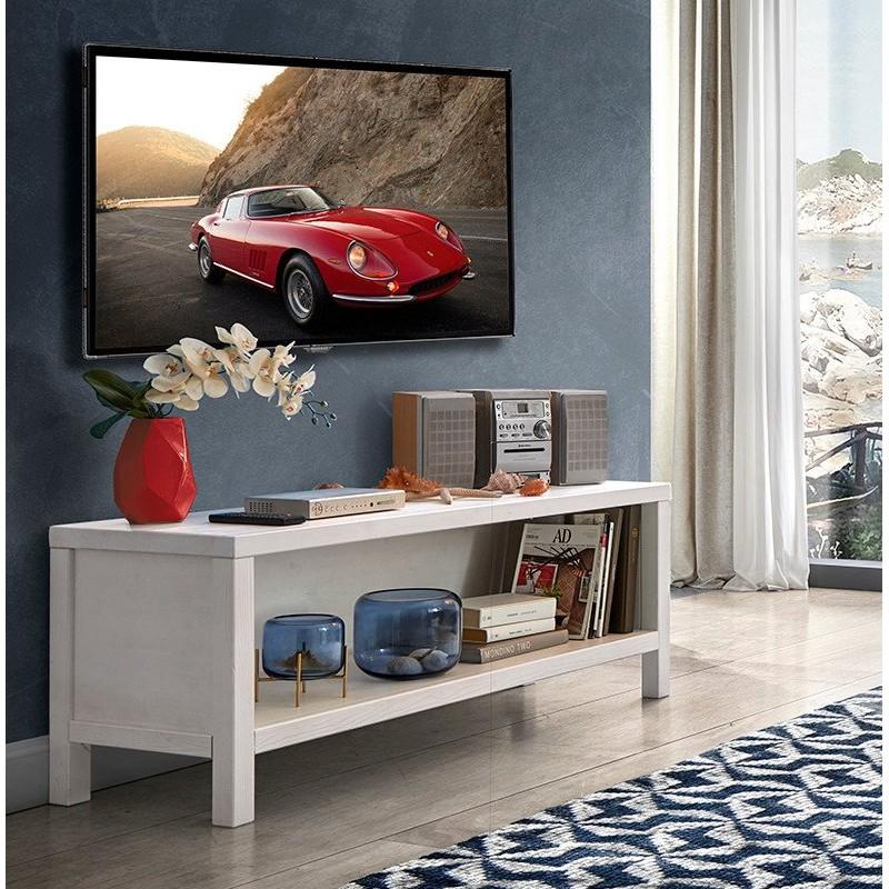 Porta Tv a giorno in Legno Massello
